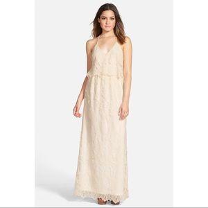 ASTR Lace Tier Maxi Dress Size XS